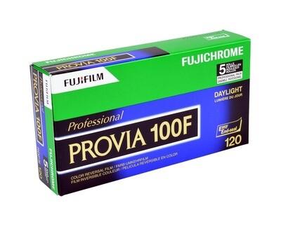 Fujifilm Fuji PROVIA 100F RDPIII 120 5-Pack (51169935) MHD 11/2020