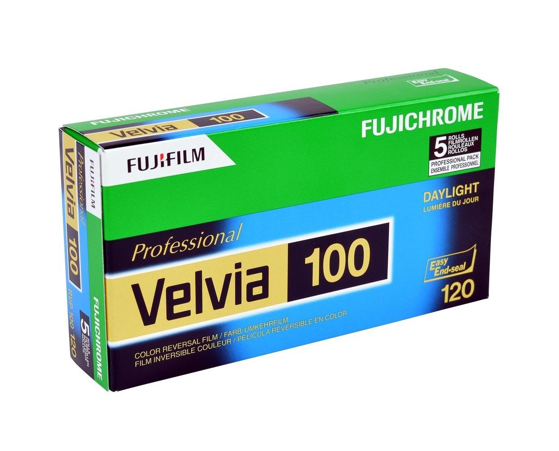 FUJIFILM VELVIA 100F Format 120 5-Pack (16326107) MHD 08/2019