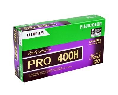 Fujifilm Pro 400H 120 Fujicolor Professional Color Negative (Print) Film (ISO 400) - Pro Pack - 5 Rolls expired 07/2021