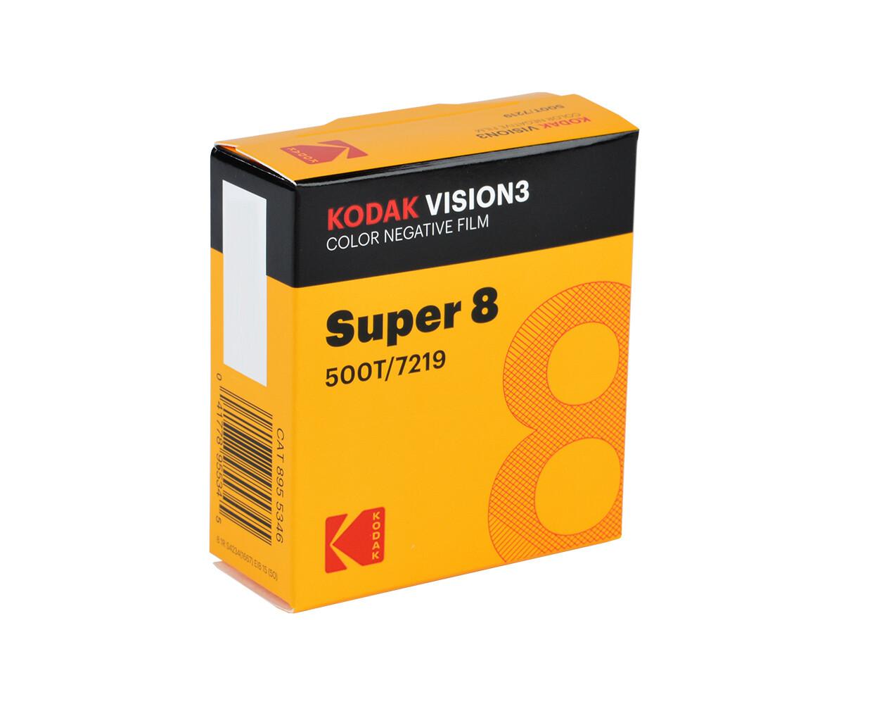 KODAK VISION3 500T-Farbnegativfilm 7219 / Kassette mit 15 m Super 8-Film