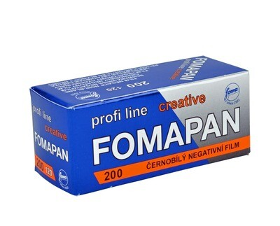 Fomapan 200 Creative Black and White Negative Film (120 Roll Film) expired 02/2021