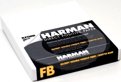 ILFORD Harman Direct Positive Paper FB 1K brillant, 12.7x17.8 cm (4x5inch), 25 sheets (1171169)