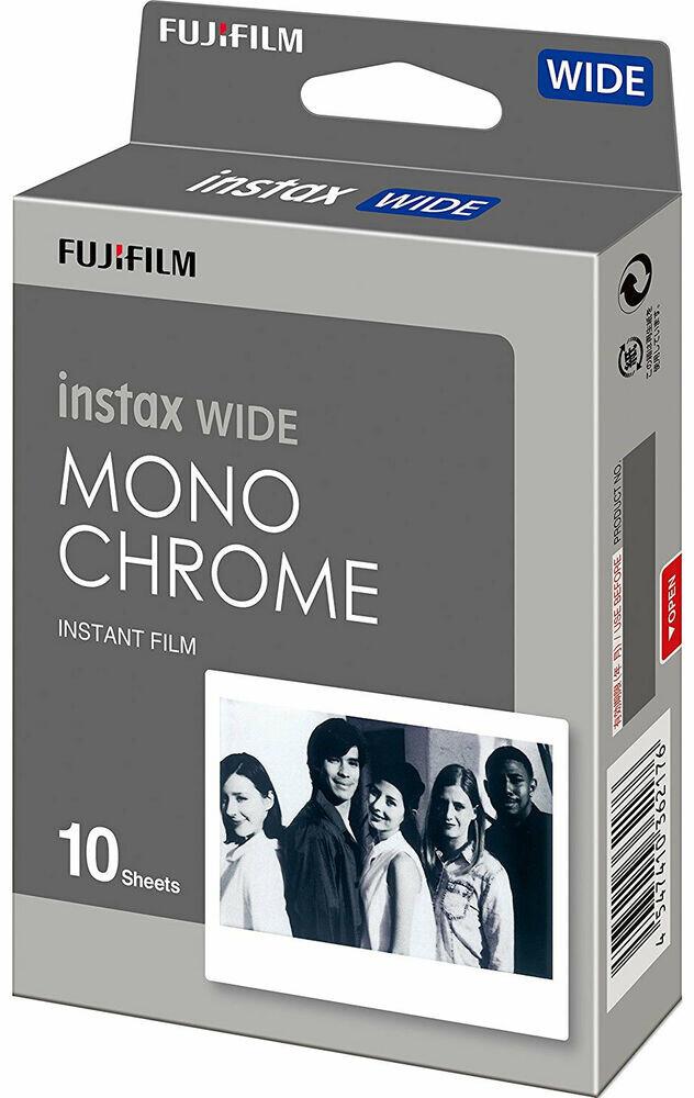 FUJI Instax Wide Monochrome 10 Aufnahmen für Instax 300 und 210 (Neuheit) MHD 09/2020
