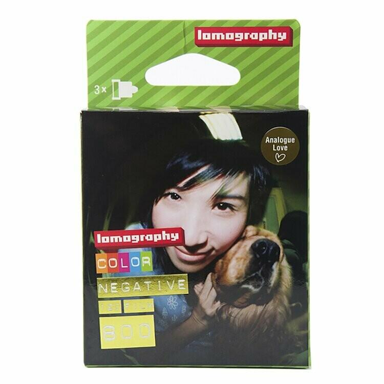 Lomography 800 Color Negative Film (35mm Roll Film, 36 Exposures, 3 Pack) date 09/2020