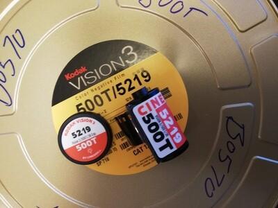 Kodak 5219 Vision3 500T motion picture film ~ 35mm 36 exposures