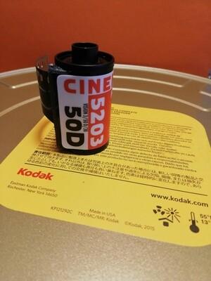 Kodak 5203 Vision 3 50D cinema film ~ 35mm 36 exposures