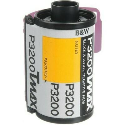 Kodak Professional T-Max P3200 Black and White Negative Film (35mm Roll Film, 36 Exposures) expired 10/2020