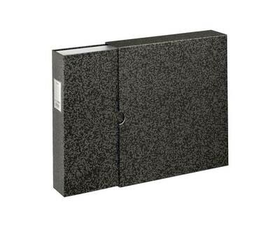File for Negatives, with slipcase, 29 x 32,5 cm, black/grey-marbled