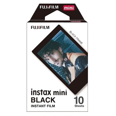 Fujifilm Instax Mini Black Frame Film Pack (10 Shots) 6,2x4,6 cm  expired 09/2018