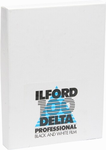 Ilford Delta-100 Professional format 10,2x12,7 CM (4x5 INCH) 25 sheets
