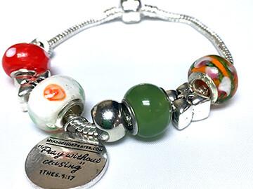 Poppy Fields - European Charm Bracelet