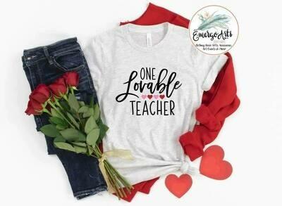 One Lovable Teacher Tee