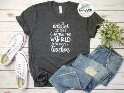 Teacher Change The World Tee
