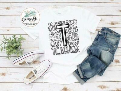 Teacher Fonts Shirt - Customizable