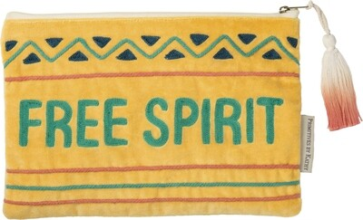 Primitives by Kathy FREE SPIRIT zipper pouch