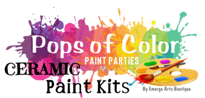 Pops of Color Ceramics Paint Kit - Take Home Kits