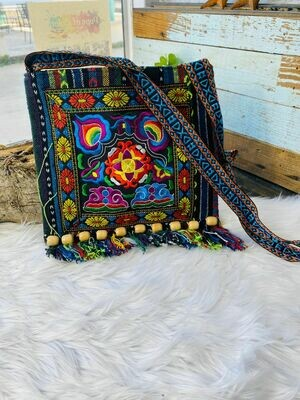 Embroidered Crossbody Purse