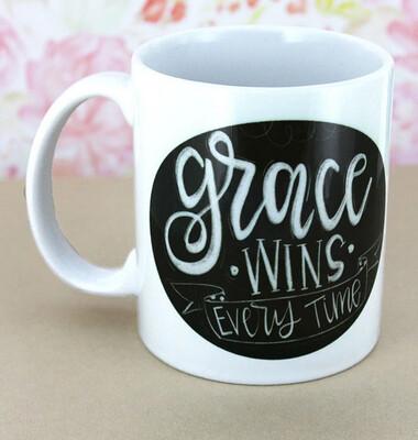 Grace Wins Every time Mug
