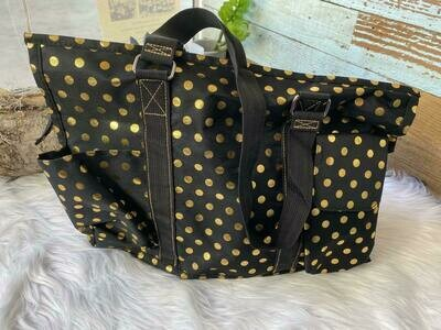 Black & Gold Carry All Bag
