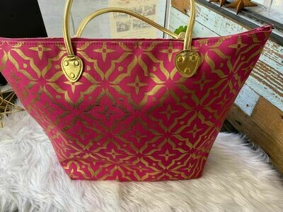 Pink & Gold Tote Bag