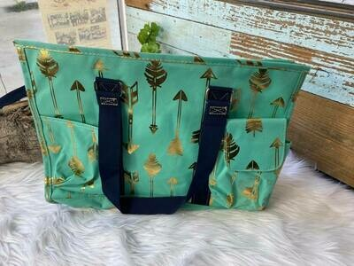 Turq & Gold ToteCarry All Bag
