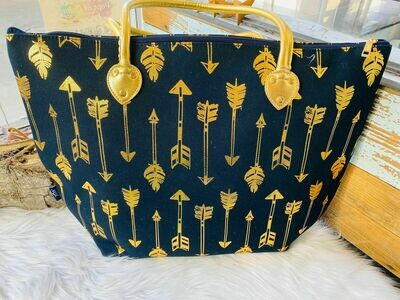Navy & Gold Tote Bag