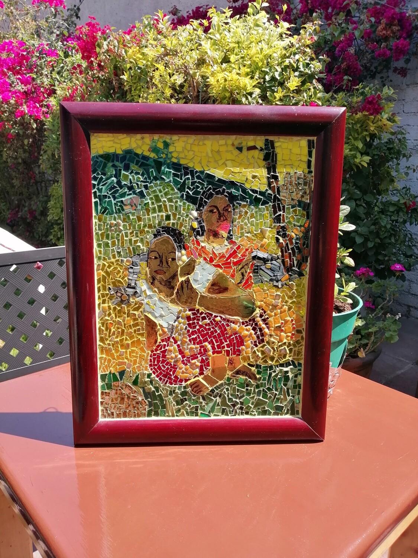 Vitromosaico basado en obra de Gauguin
