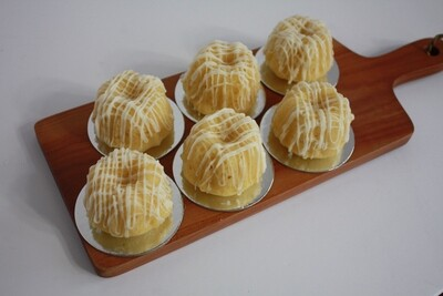 Almond Baby Bundts (Half-Dozen)