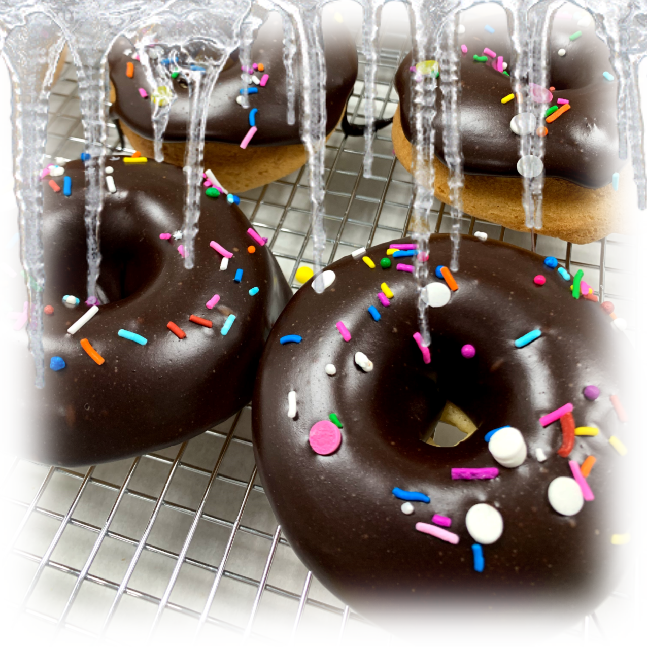 Frozen Chocolate Frosted Cake Donuts (Individual)