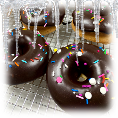 ​Frozen Chocolate Frosted Cake Donuts (Individual)