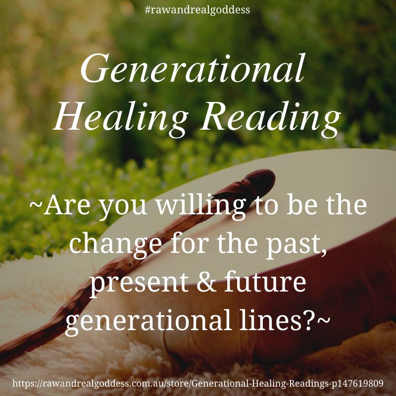 Generational Healing Readings