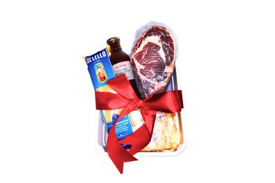 Mamou Twin Angus Ribeye USDA Prime Grade Steak (800g) & Lorenzo's Truffle Cream Pasta Set