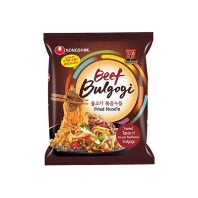 Nongshim Beef Bulgogi Fried Noodle Pouch (103g)