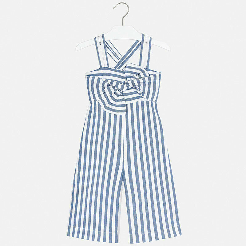 Mayoral Striped Jumpsuit