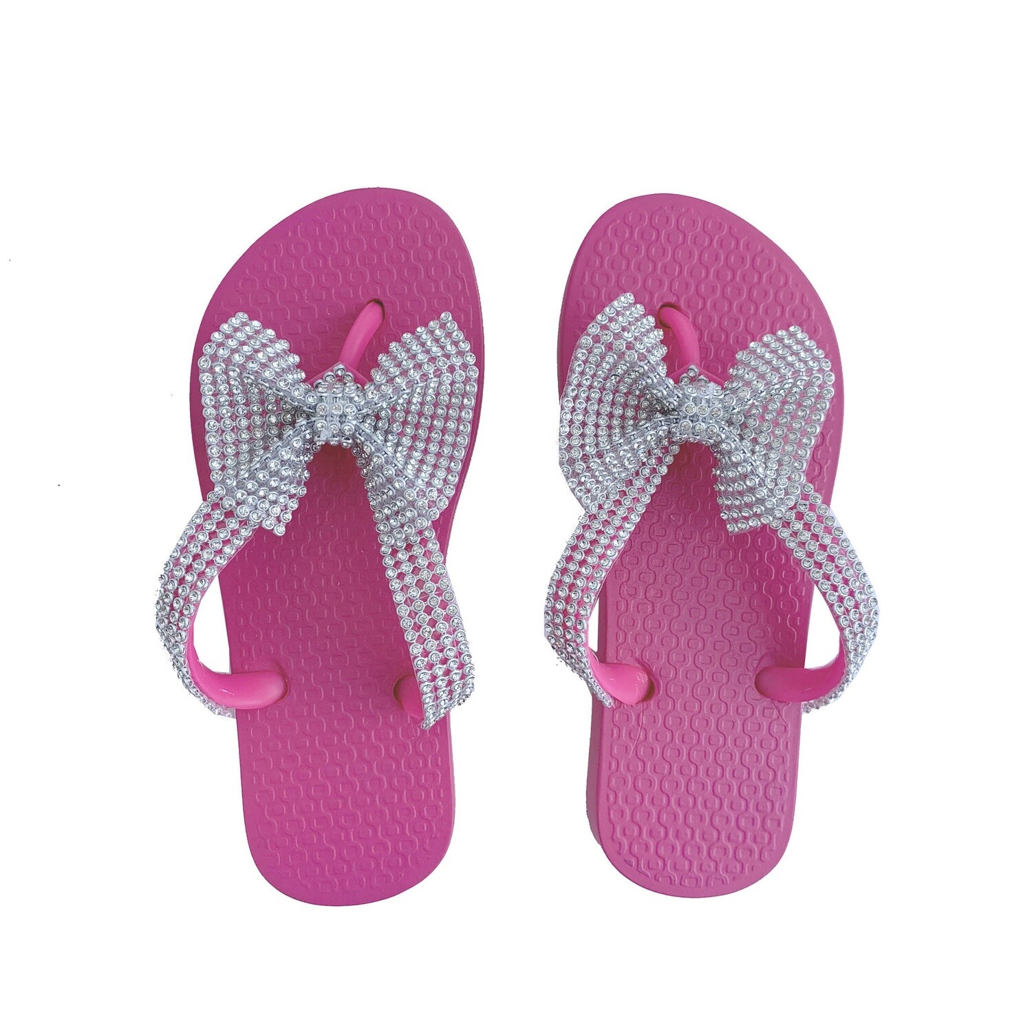 Planet Sea Bow Flip Flop Pink