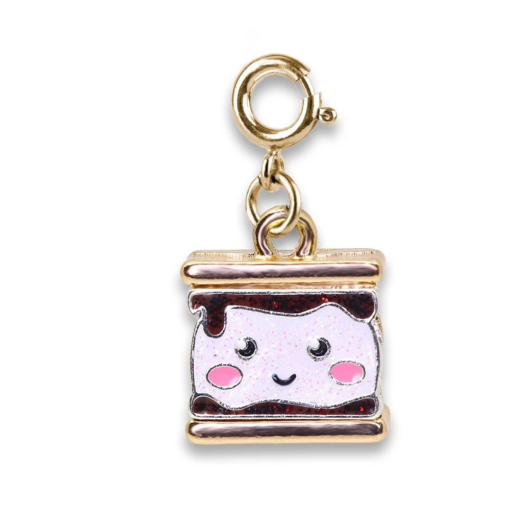 CHARM It Gold Glitter S'mores Charm CICC1384