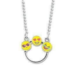 CIN502 EMOJI CHARM Catcher Necklace