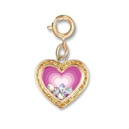 CHARM It Gold Heart Shaker Charm CICC1293