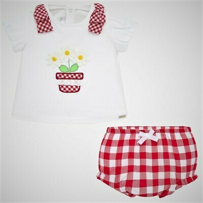 Mayoral Red Bloomer Set 1138