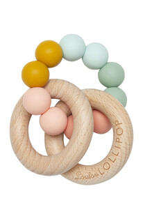 Loulou Lollipop Bubble Silicone & Wood Teether