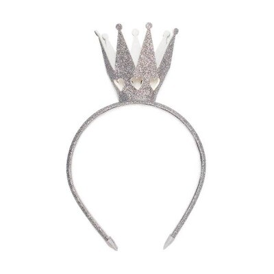 Sweet Wink Silver Crown Headband