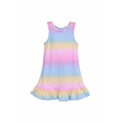 Flap Happy Rainbow A-Line Dress
