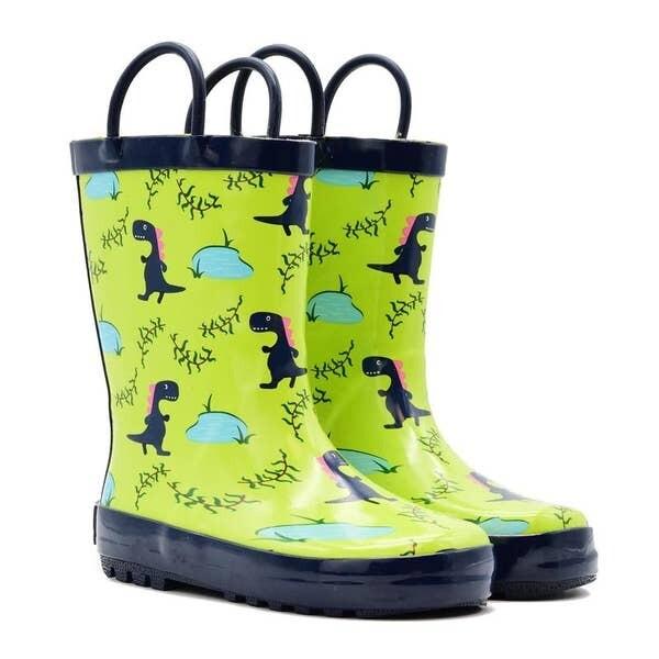Blue Dino Rain Boot Mucky Wear