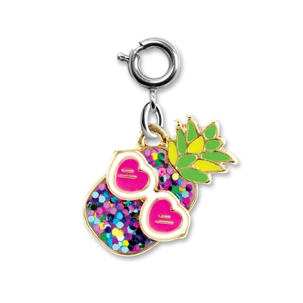 CHARM It GlitterPineapple Charm CICC1297