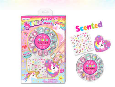 Hot Focus Scented Stylin Press on Nails Unicorn 033UC