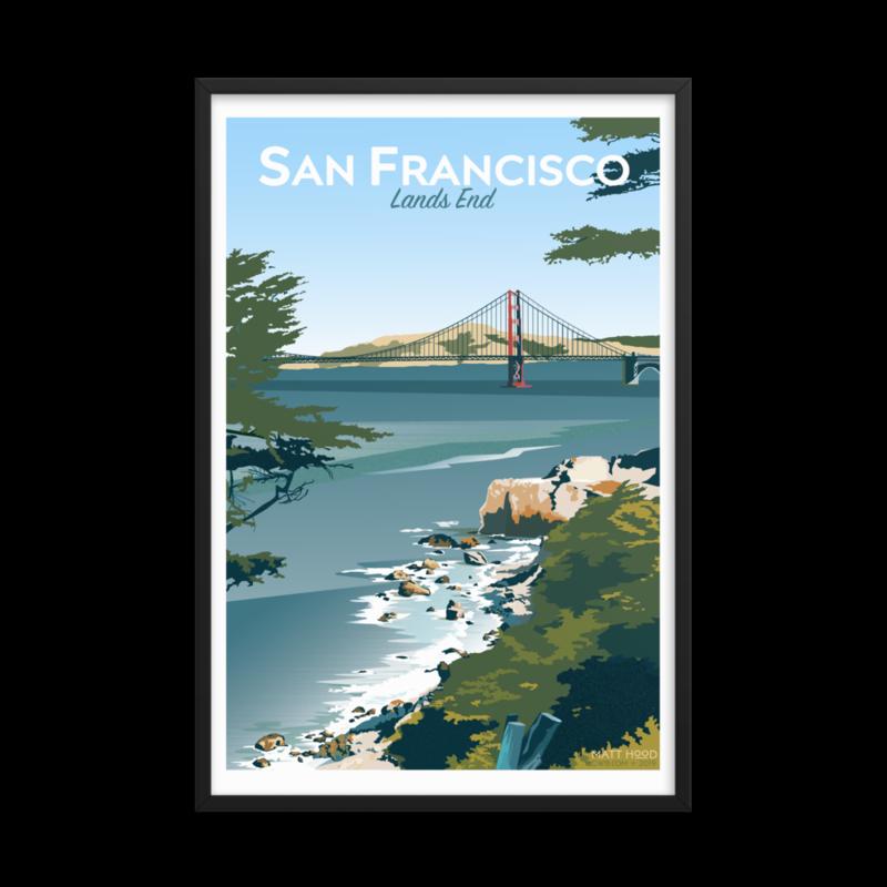Framed Lands End Poster
