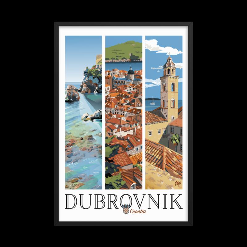Framed Dubrovnik Poster