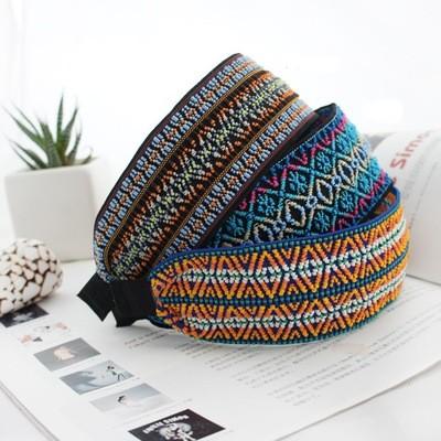 5cm-wide Bohemian style coloured threads headband