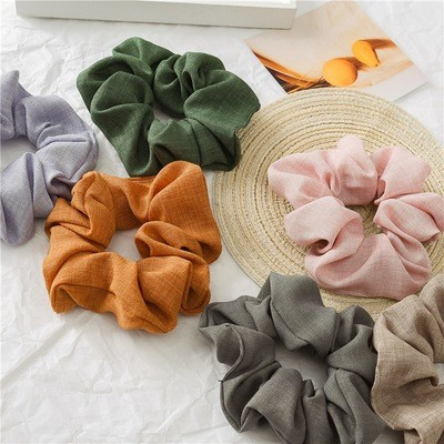 Lois fabric plain scrunchies