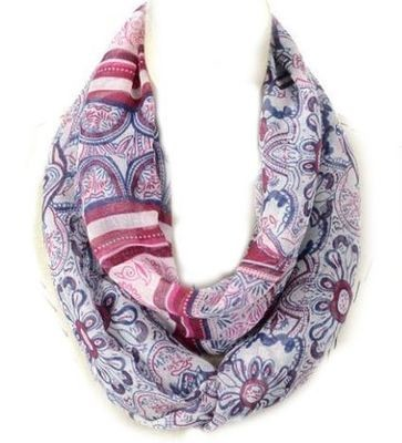 Floral totem print infinity scarf
